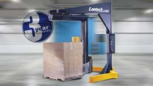 Lantech S300 stretch wrapping pallet.