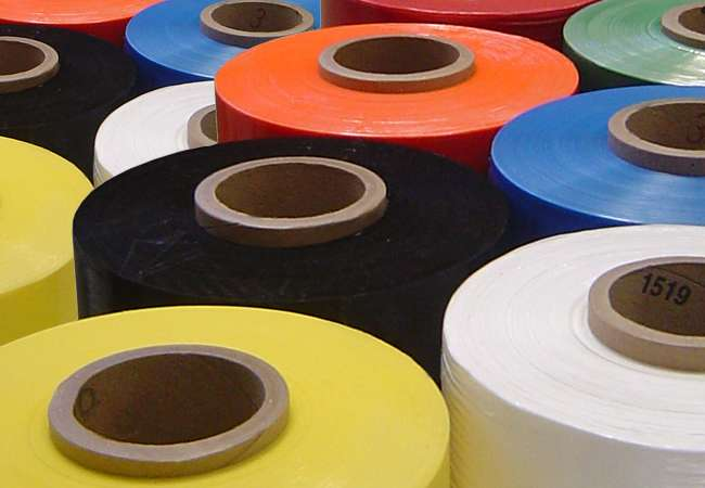 Colour Tinted stretch film rolls