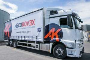 Irish packaging distribution truck transporting products