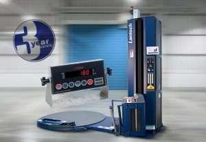 lantech stretch wrapping machine with ezi weight technology