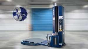 Lantech Q-300XT semi automatic stretch wrapping machine