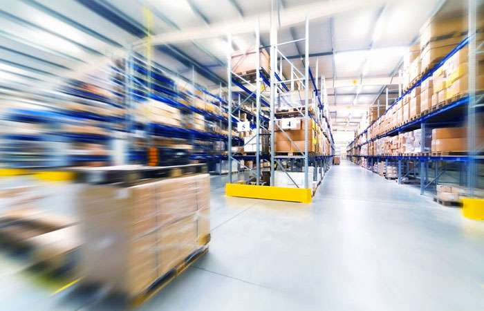 Packaging materials and machinery storage and distribution facility