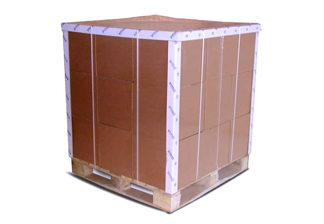 pallet edge protection with branded edge board