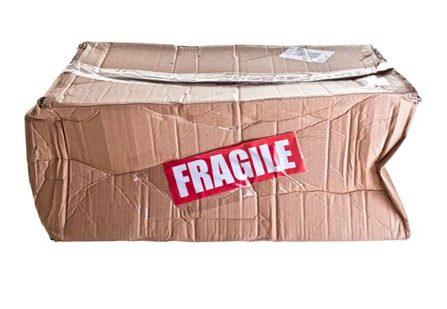 Damaged packaging box could have been prevented using Veeboard edge protection