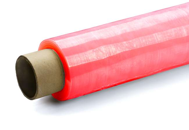 Red Colour Tinted Plastic Film | Stretch Wrap Ireland | Abco Kovex