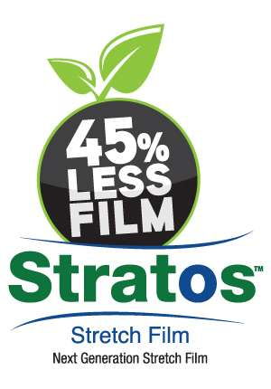 Stretch Film provides your pallet with 45% less film.