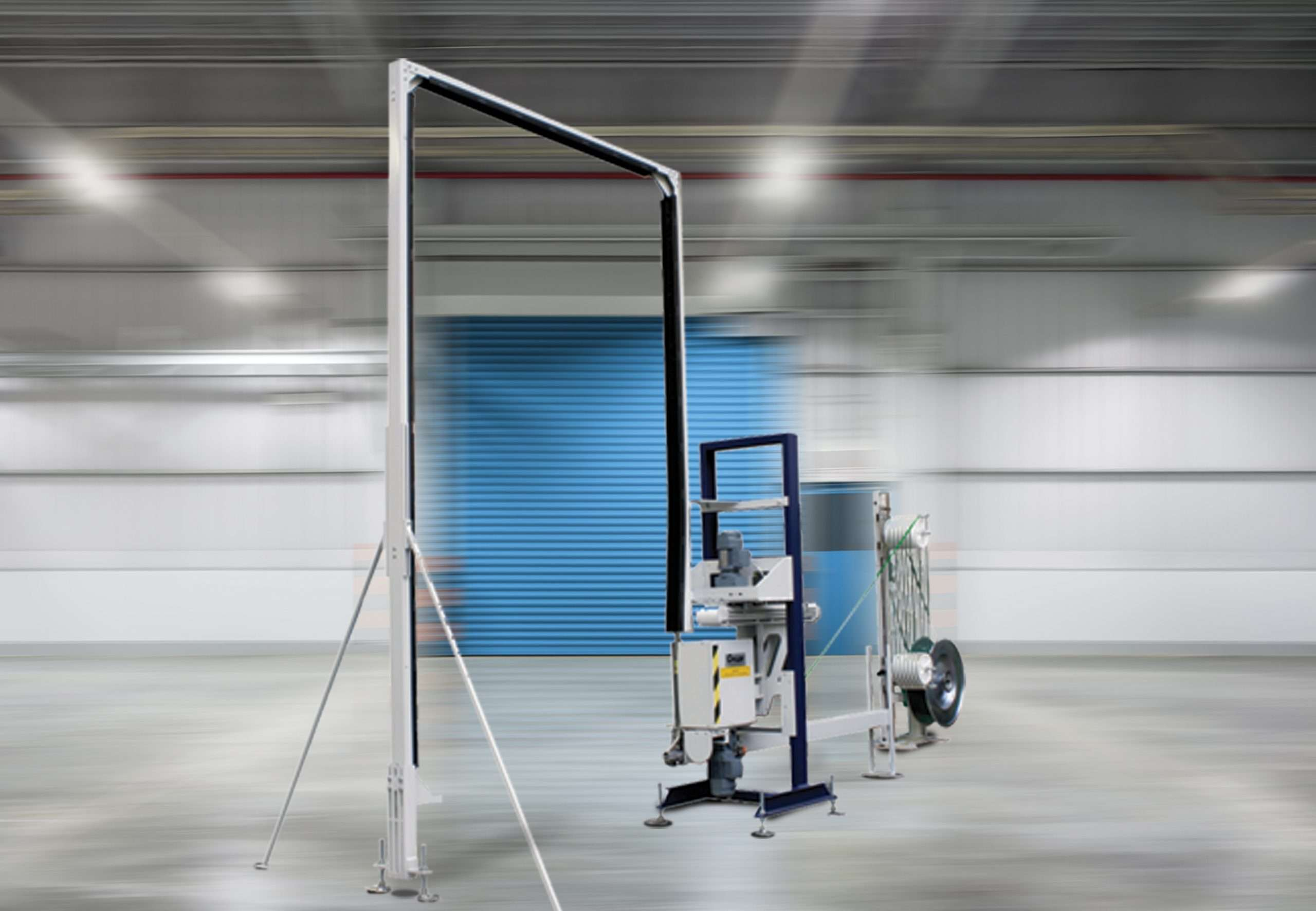 Cyklop XF 112-M Series strapping machine in factory.