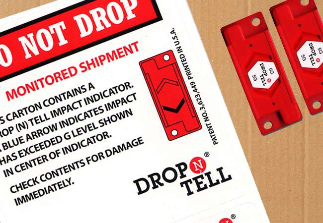 Drop N Tell Cards | Shipping Indicator | Abco Kovex | Packaging Ireland | Transit Packaging