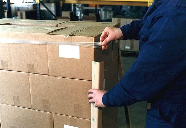 Pallet Corner Protectors secure pallet load for transport