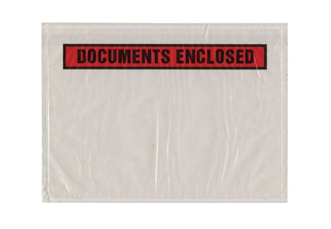 Standard sized document enclosed to protect paper