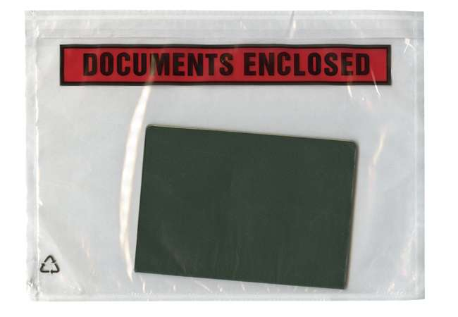 Stick items with a documents enclosed adhesive strip