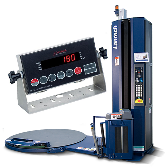 Lantech Q 300xt With Ez Weigh Stretch Wrapping Machine