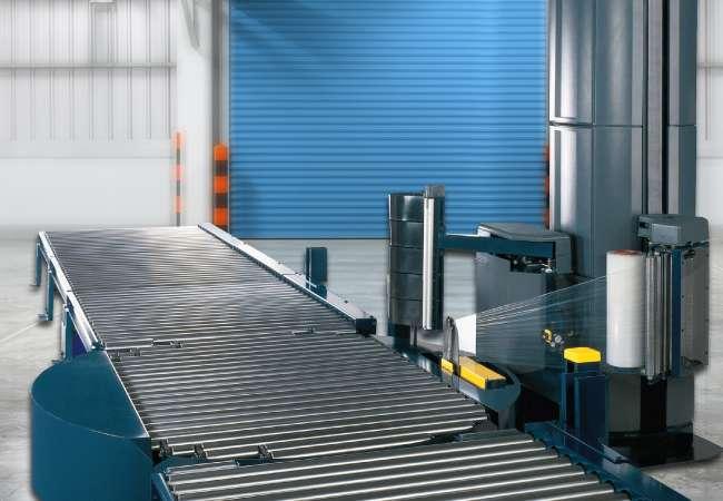 Lantech model Q Automatic strech wrapper