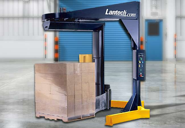 Lantech S3000 with stretch pallet ready for transport