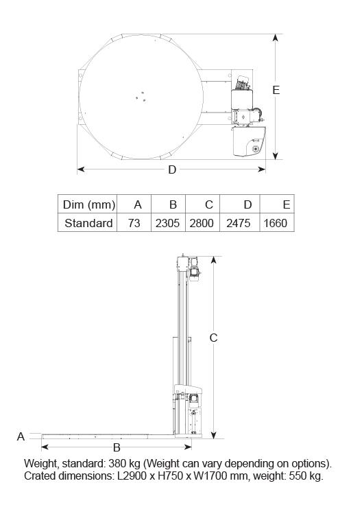 CTT 300 Dimensions Diagram
