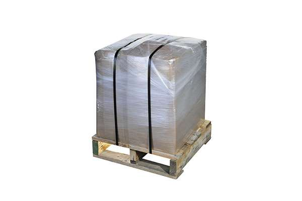 Pallet wrapped with cyklop pallet wrapper