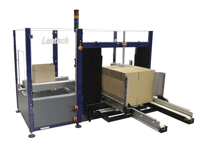 case erector for cardboard boxes made by lantech