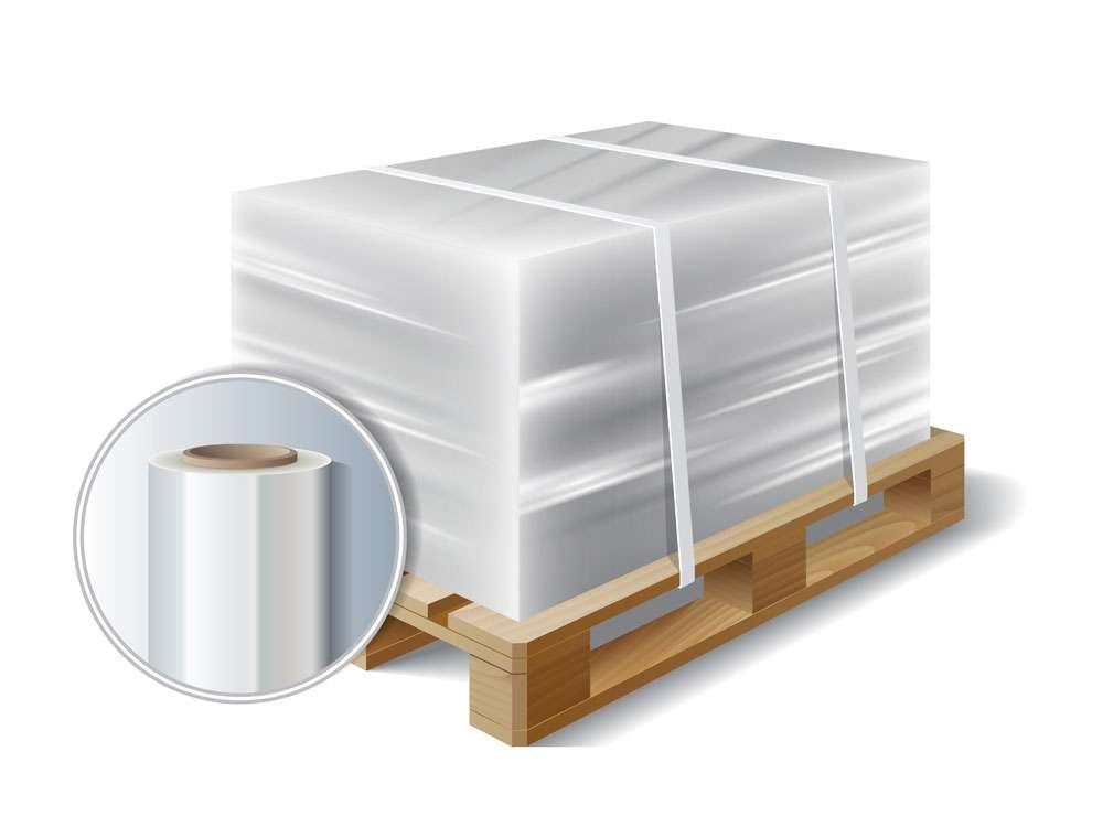 pallet wrapped securely using stretch film