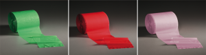 different coloured polythene bands for load containment